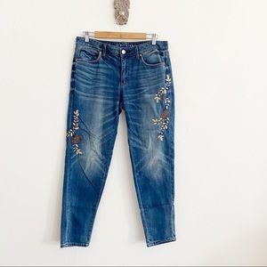 WHBM The Girlfriend Embroidered Jean